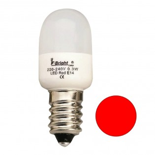 Bombilla LED Pebetera Mini Roja E14 (0.3W)