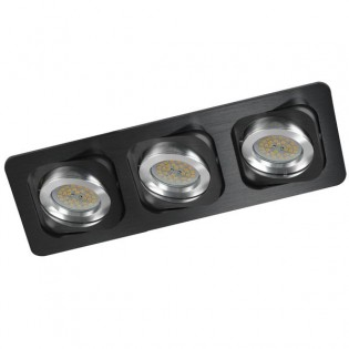 Kit empotrable DOUBLE negro (3 luces)