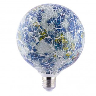 Bombilla LED decorativa Tiffany E27 4W (Azul)