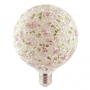Bombilla LED decorativa Tiffany E27 4W (Rosa)